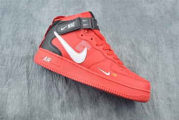 Femme/Homme Nike Air Force 1 Mid Rouge