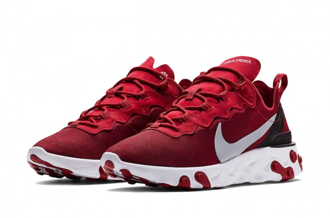Homme Nike React Element 55 Rouge