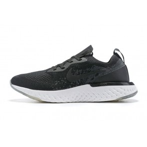 Women/Men Nike Epic React Flyknit Noir/Blanc