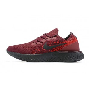 Women/Men Nike Epic React Flyknit Rouge/Noir
