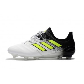 Homme Adidas ACE 17.1 Leather FG Blanc/Noir