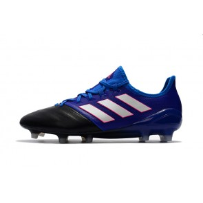 Homme Adidas ACE 17.1 Leather FG Noir/Bleu