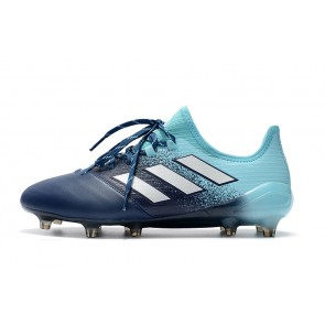 Homme Adidas ACE 17.1 Leather FG Bleu