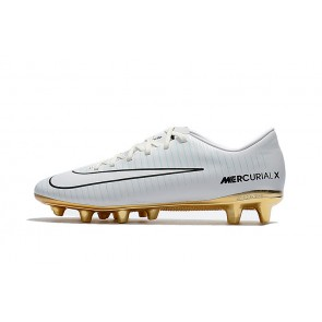 Homme Nike Mercurial Victory VI AG Blanc/Or