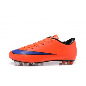 Femme/Homme NIke Mercurical Victory V AG Orange/Bleu