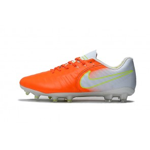 Homme Nike Tiempo Legend VII FG Blanc/Orange