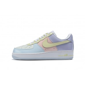Femme/Homme Nike Wmns Air Force 1 1'07 Blanc/Rose