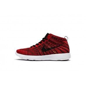 Homme Nike Flyknit Lunar Chukka Rouge