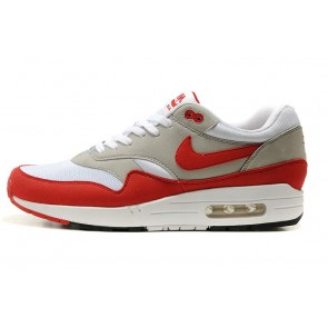 Femme Nike Air Max 1 Gris/ Rouge