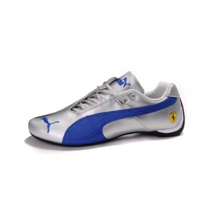 Homme Puma Future Cat Leather SF Blanc/Bleu