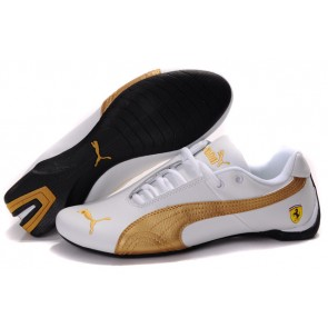 Homme Puma Future Cat Leather SF Blanc/Or