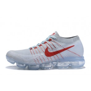 Homme Nike Air Vapormax Flyknit Blanc/Rouge