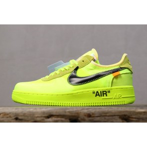 Femme/Homme OFF-WHITE x Nike Air Force 1 Vert