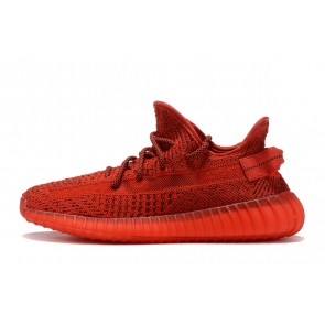 Femme/Homme Adidas Yeezy Boost 350 V2 Rouge