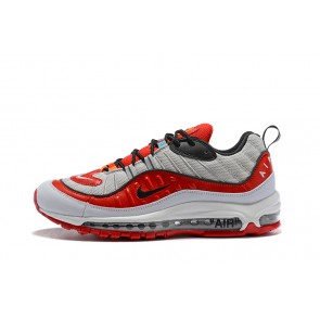 Femme/Homme OFF-WHITE x Nike Air Max 98 Rouge/Gris