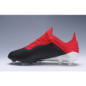 Homme Adidas X 18.1 Firm Ground Cleats Noir/Rouge