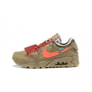 Homme OFF-WHITE x Nike Air Max 90 OW Beige/Jaune