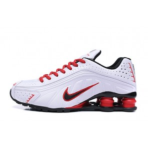 Homme Nike Shox R4 Blanc/Rouge