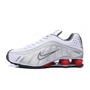 Homme Nike Shox R4 Blanc/Argent