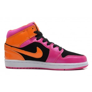 Femme Nike Air Jordan 1  Rouge/Noir/Orange