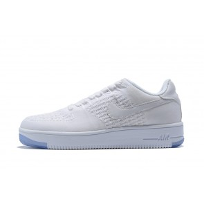 Femme/Homme Nike Air Force 1 Ff1 Flyknit Low Blanc