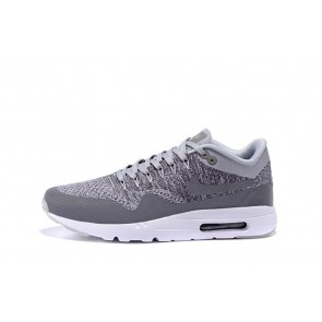 Homme Nike Air Max 1 Ultra Flyknit Gris/Blanc