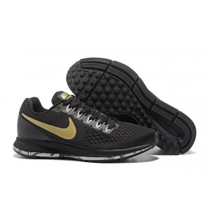 Homme Nike Air Zoom Pegasus 34 Noir/Blanc/golden