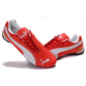 Homme Puma Future Cat Leather SF Rouge/Blanc