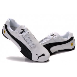 Homme Puma Future Cat Leather SF Blanc/Noir