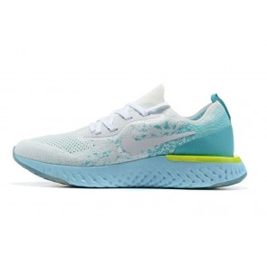 Women/Men Nike Epic React Flyknit Gris/Bleu clair