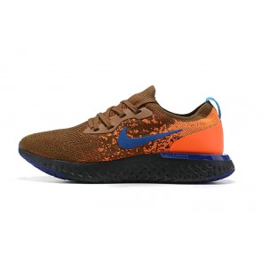 Women/Men Nike Epic React Flyknit Brown/Orange/Noir