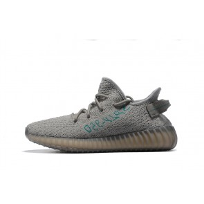 Femme/Homme OFF-WHITE x Adidas Yeezy Boost 350 V2 Gris