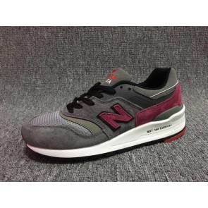 Femme/Homme New Balance 997 Gris/Rouge